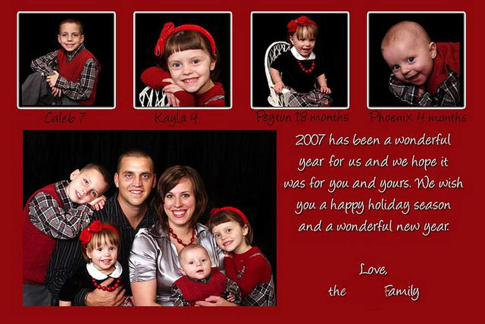 For more information about our  Family Christmas Card Design